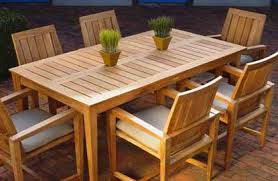 wood outdoor furniture